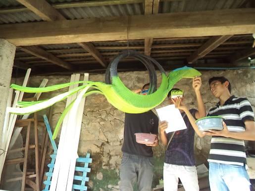 Talleres de Arte en Walabis con jovenes hondureños. Foto: Walabis.