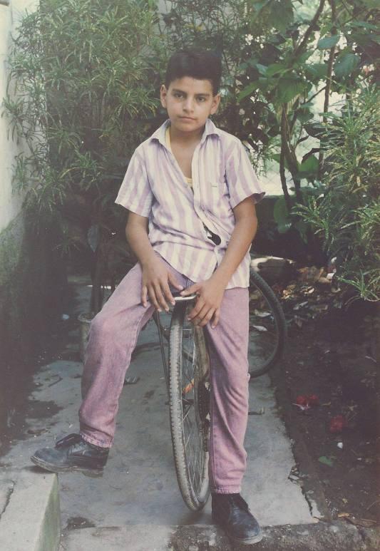 Una foto del recuerdo: Magdiel a la edad de 12 años en su natal Santa Bárbara.