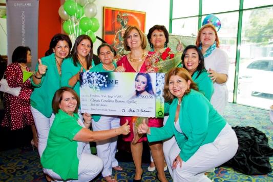 El 60 de las ventas de Oriflame Honduras lo logra el equipo de Claudia Romero.
