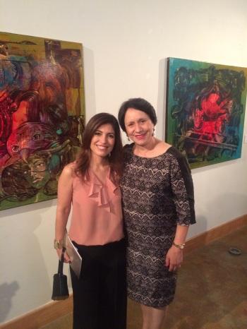 Rosario Elena Córdova (IHCI) y Ana Sofía García (representante de la Secretaría de Cultura del Gobierno del Estado de Coahuila de Zaragoza),