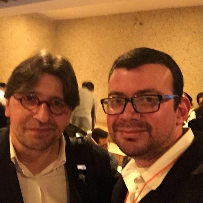 Foto con Francisco Sierra Caballero actual Director del Centro Internacional de Estudios Superiores de Comunicación para América Latina (Ciespal)