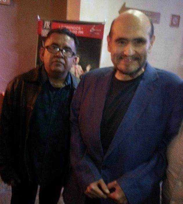El hondureño originario de Chinda, Santa Bárbara junto al comediante mexicano Edgar Vivar.