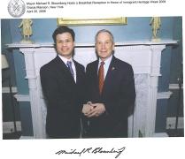 Con el ex alcalde de New York, Michael Bloomberg