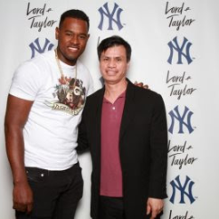 Con el famoso pitcher de loa Yankees, Carlos Severino
