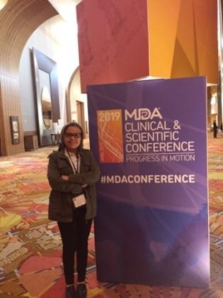 Mary en la Conferencia Mundial de Distrofia Muscular 2019 en la Florida